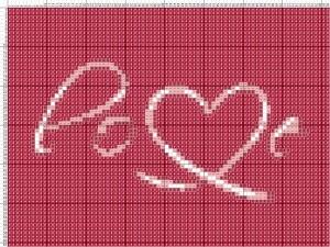Схема вышивания крестиком - Валентинка - Любовь