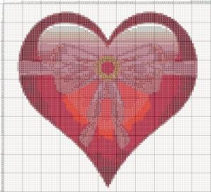 Схема вышивания крестиком - Валентинка - Дарю сердце