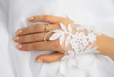 Свадебные перчатки 9