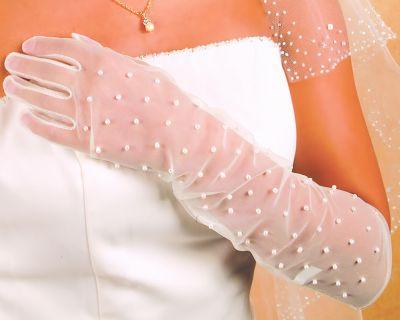 Свадебные перчатки 10