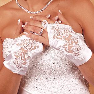 Свадебные перчатки 6