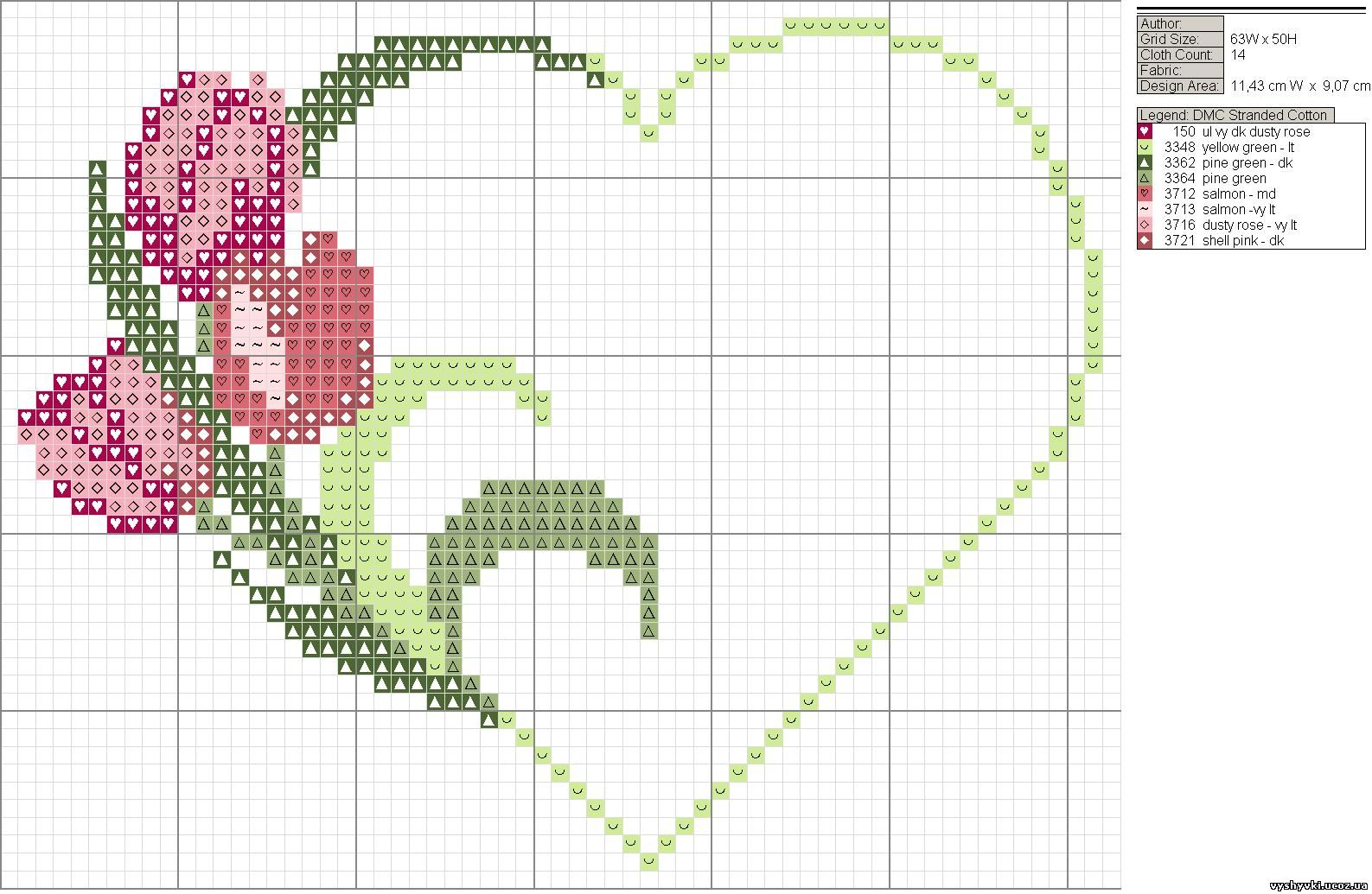 Схемы вышивки валентинок 15