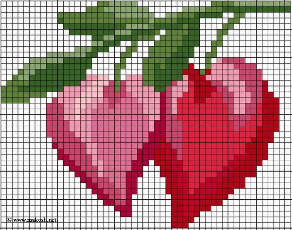Схемы вышивки валентинок 24