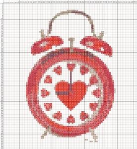 Схема вышивания крестиком - Валентинка - Час любви