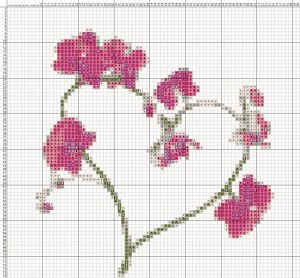 Схема валентинка вышивка крестом