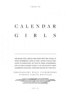Календарь с красивыми девушками от VMAN #25 (фото 1)
