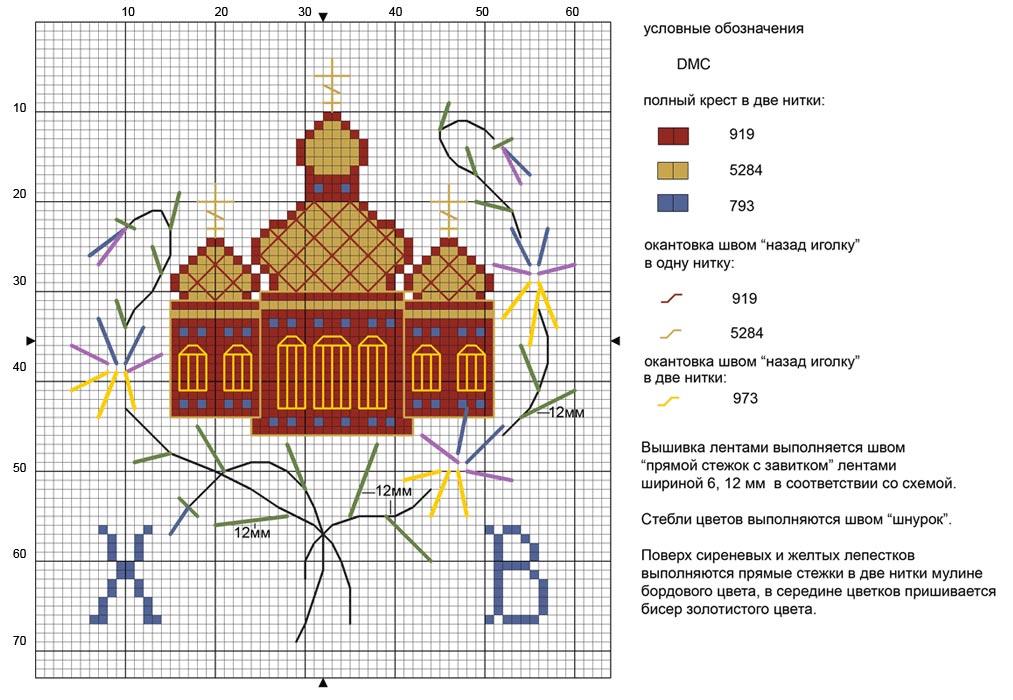Пасхальные схемы для вышивки 17