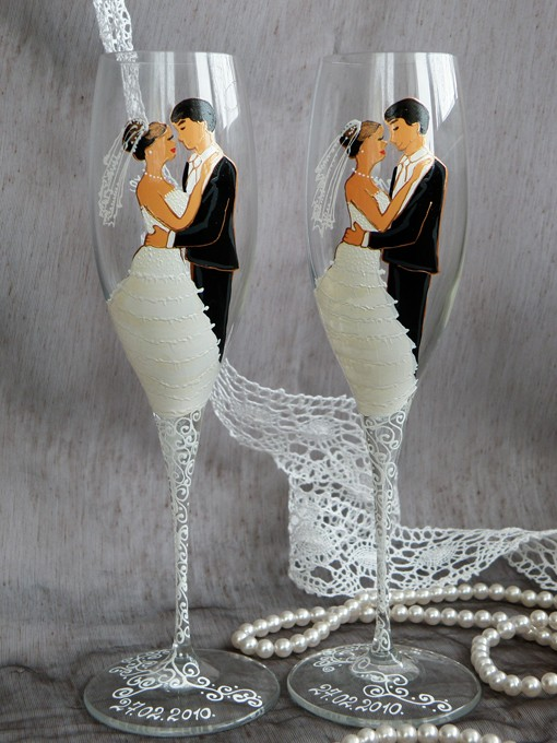 Свадебные бокалы 12