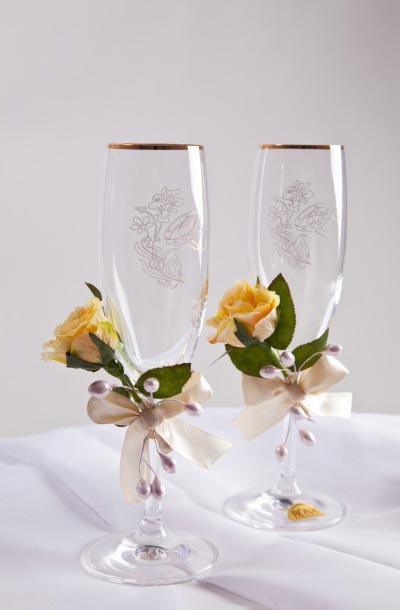 Свадебные бокалы 45