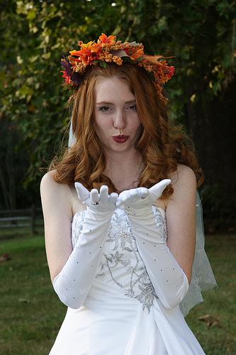 Свадебные прически 14
