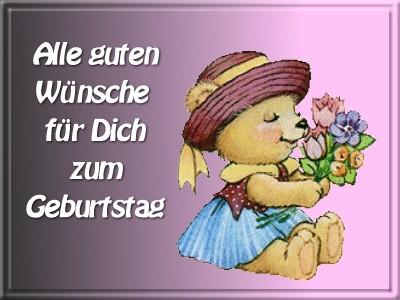 Поздравления с днем рождения на немецком