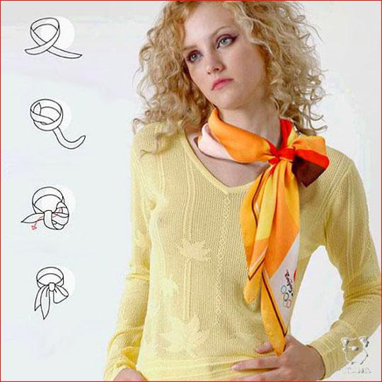 Как завязать шарф 8