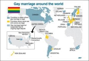 страны с  однополыми браками