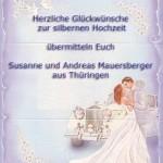 Поздравления со свадьбой на немецком