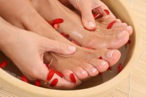 Распаривание ног для педикюра