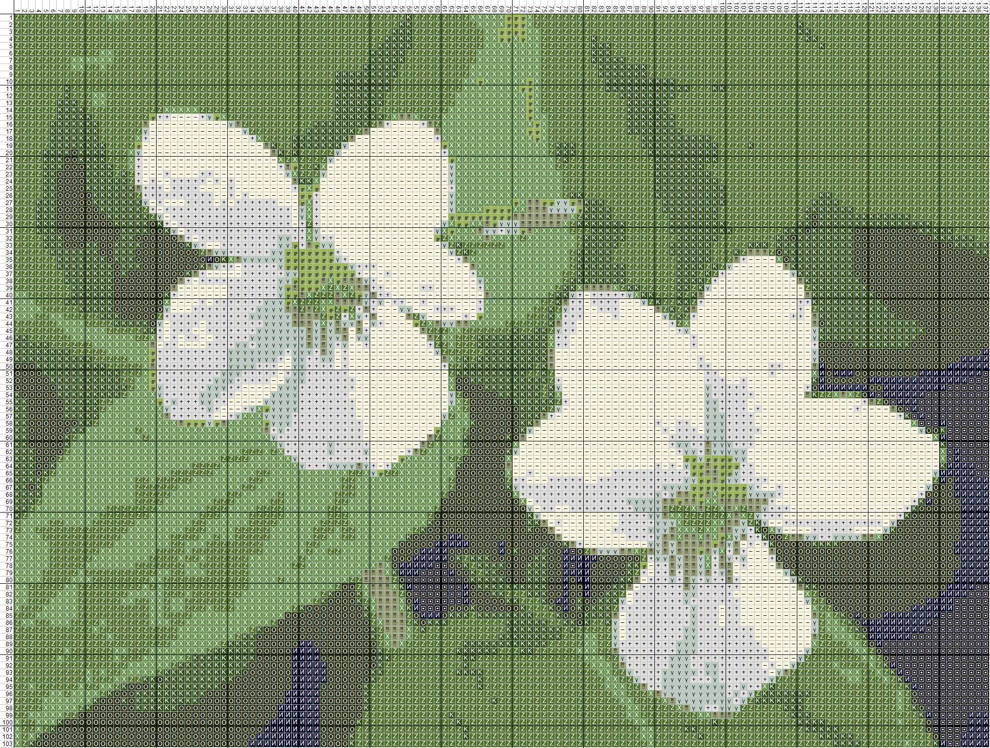 Схема вышивания крестом - белые цветы