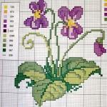 Схемы вышивания крестом — Цветы