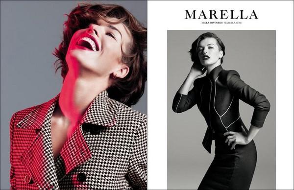 Милла Йовович в фотосессии для Marella Fall Winter 2012 - фото 2