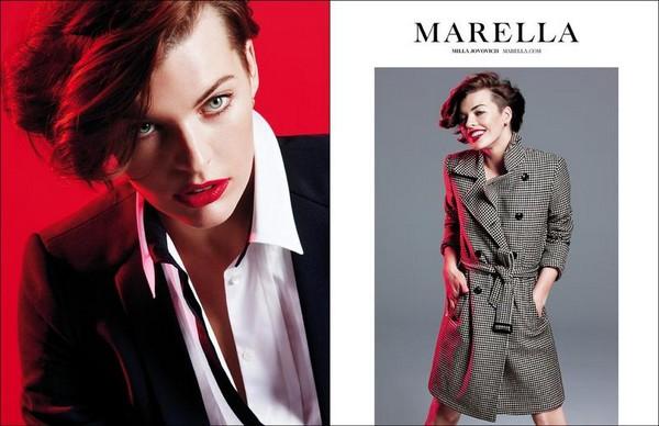 Милла Йовович в фотосессии для Marella Fall Winter 2012 - фото 3