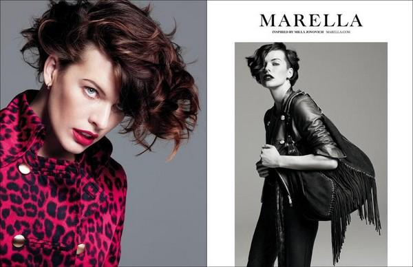 Милла Йовович в фотосессии для Marella Fall Winter 2012 - фото 4