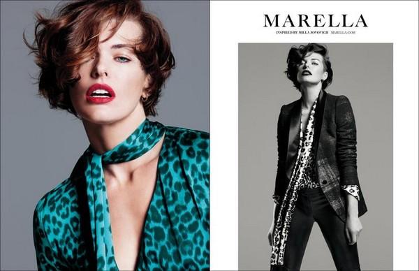 Милла Йовович в фотосессии для Marella Fall Winter 2012 - фото 5