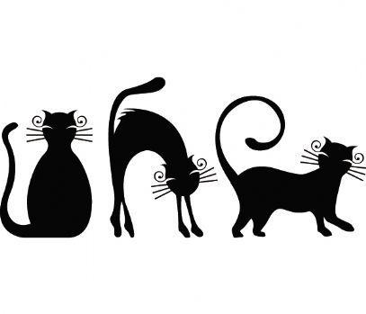 Трафареты кошки - фото 13