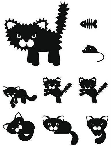 Трафареты кошки - фото 23