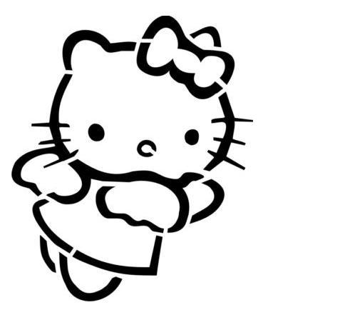 Трафареты кошки - фото 24