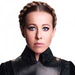 Ксения Собчак для фотосессии Harper's Bazaar предстала в образе Юлии Тимошенко