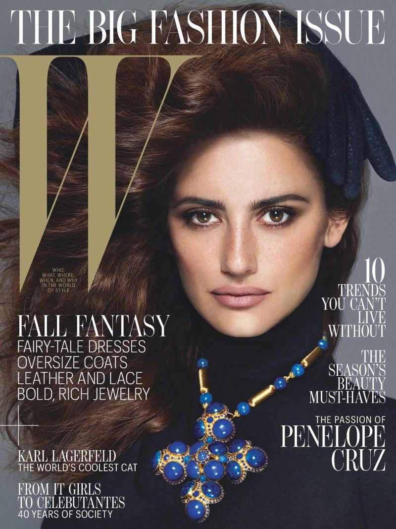Пенелопа Крус для W Magazine Сентябрь 2012