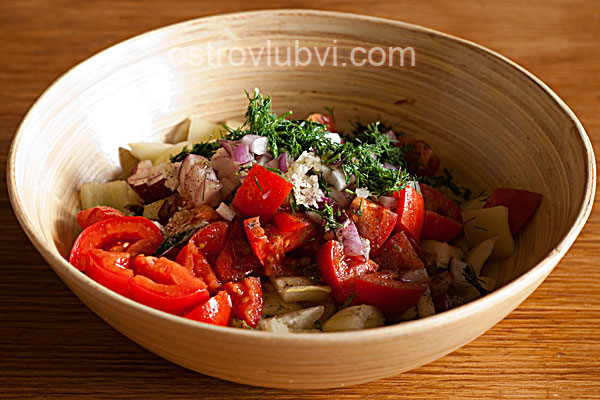 Салат из свежих овощей - фото 5