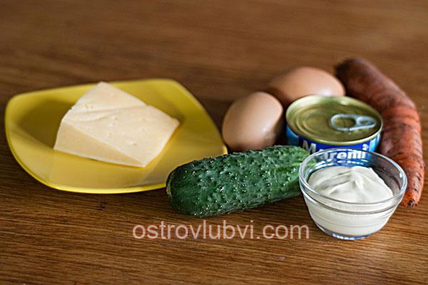 Салат с тунцом - Ингредиенты