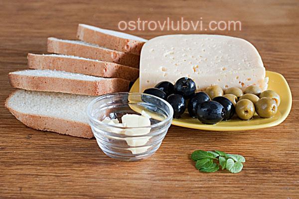 Бутерброды 'Пчелки' - Ингредиенты