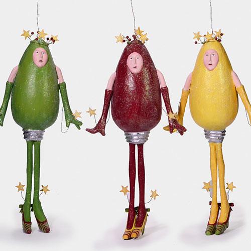 Новогодние игрушки из лампочек - фото 21