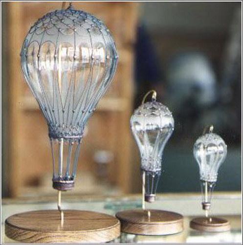 Новогодние игрушки из лампочек - фото 24