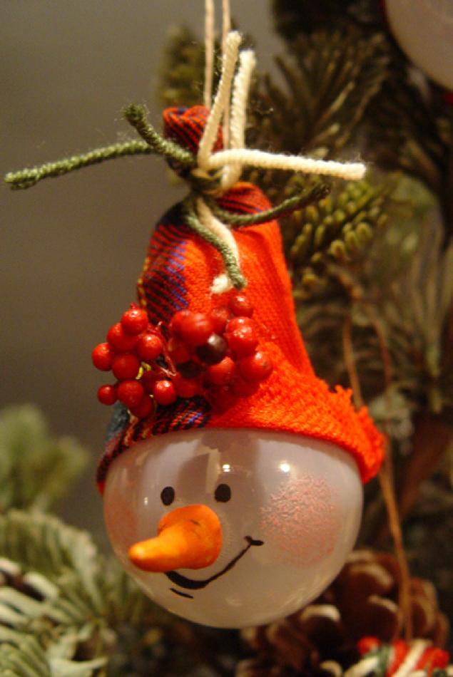 Новогодние игрушки из лампочек - фото 9