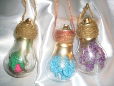 Новогодние игрушки из лампочек - фото 18