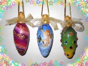 Новогодние игрушки из лампочек - фото 30