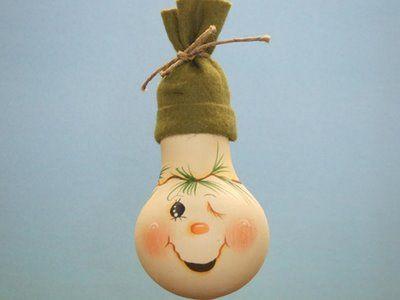 Новогодние игрушки из лампочек - фото 28