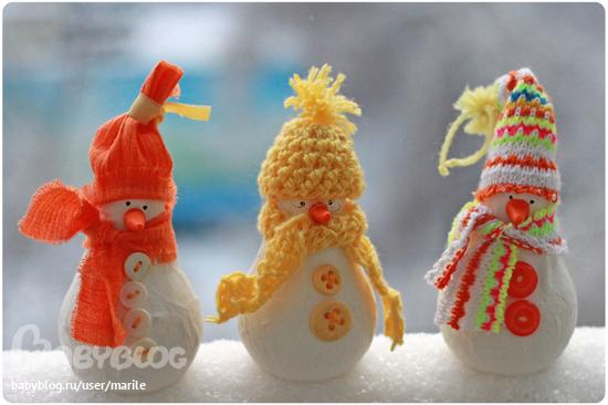 Новогодние игрушки из лампочек - фото 19