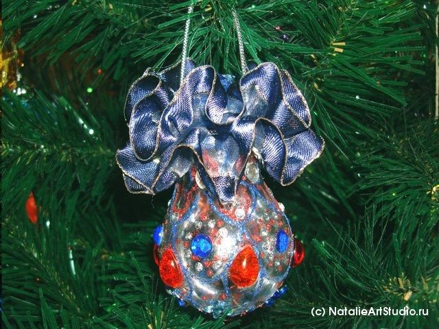 Новогодние игрушки из лампочек - фото 29