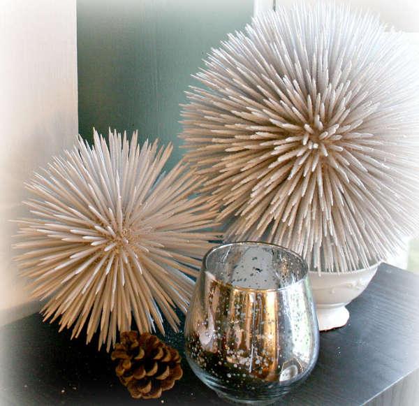Новогодние шары из зубочисток