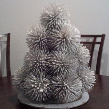 Новогодняя елка из зубочисток - фото 6