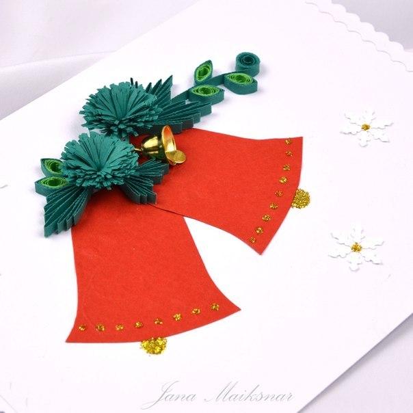 Новогодние открытки в технике квиллинг - фото 8