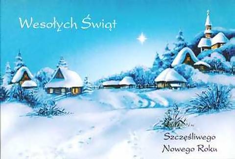 Поздравления с Рождеством на польском