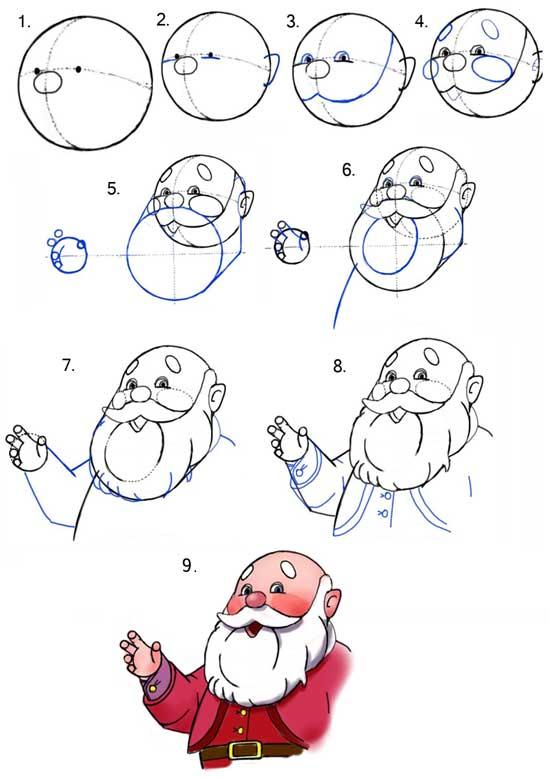 Шаблоны Деда Мороза - фото 15