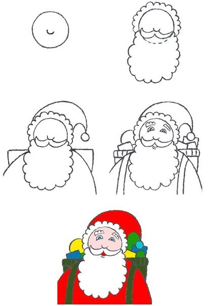 Шаблоны Деда Мороза - фото 17
