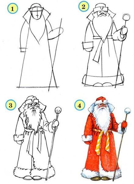 Шаблоны Деда Мороза - фото 18