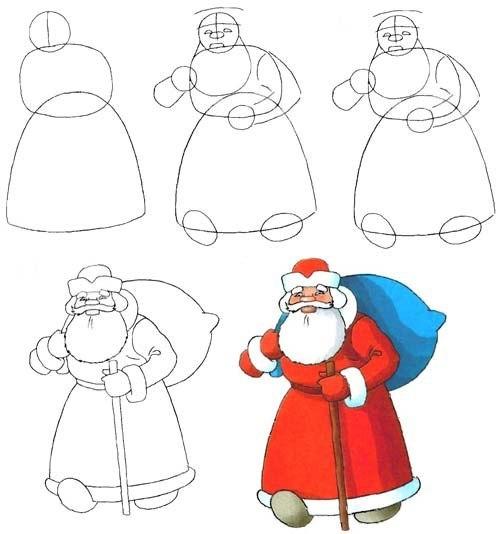 Шаблоны Деда Мороза - фото 23