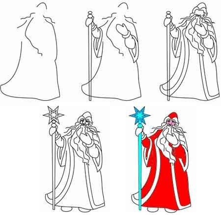 Шаблоны Деда Мороза - фото 24